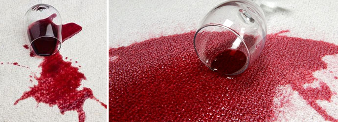 Red Wine Stains on Carpet
