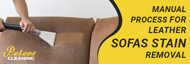 Manual Process for Leather Sofas Stain Removal
